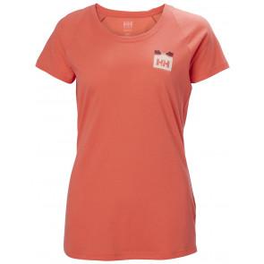 Koszulka bawełniana damska Helly Hansen W NORD GRAPHIC DROP T-SHIRT